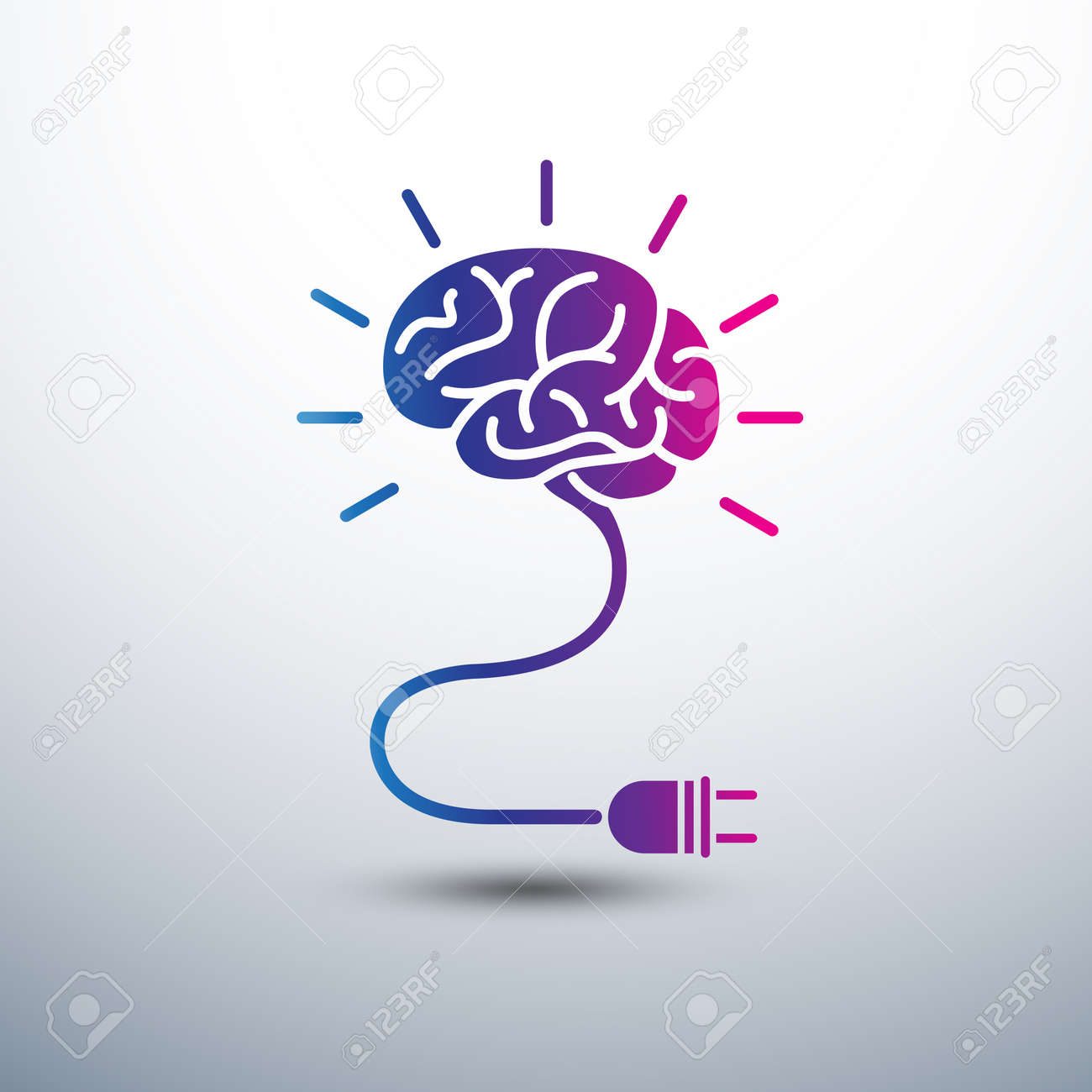 Creative in Idea Concept With Light Bulb And Plug Icon ,vector ... on hair dryer and plug, money and plug, screw and plug, radio and plug, wire and plug, light switch and plug,