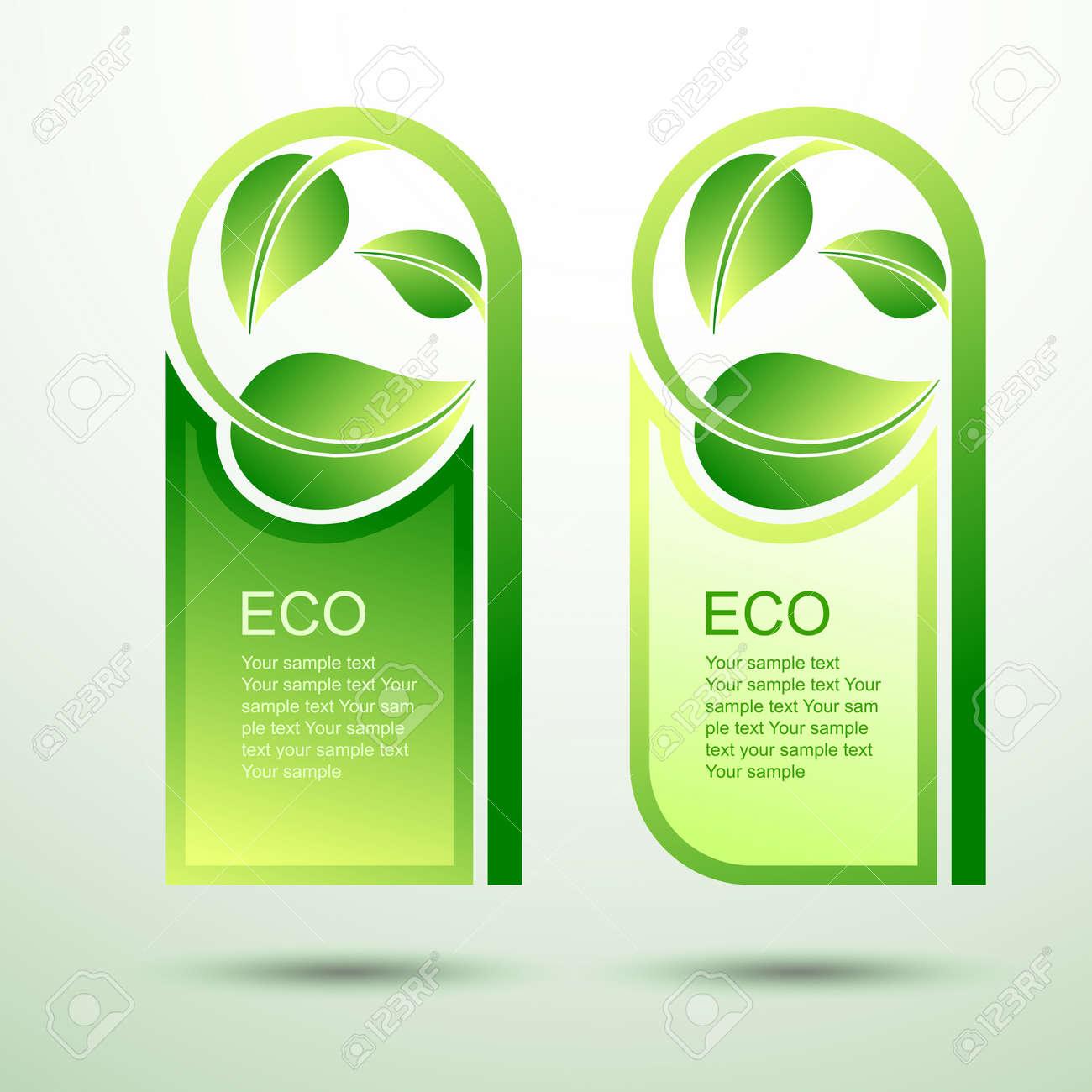 Esquema De Trazado Verde Plantilla Eco Concepto De Ilustración ...