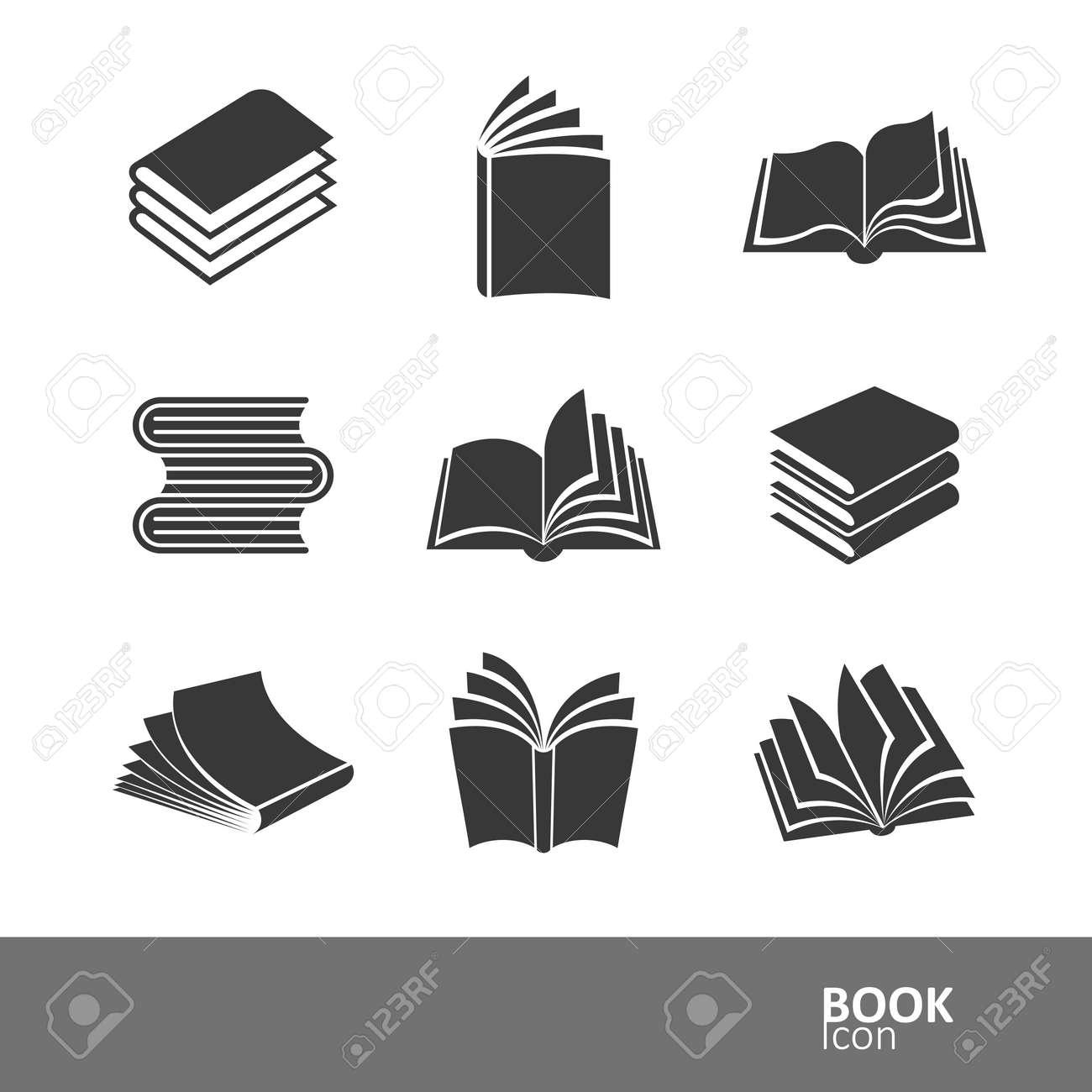 book silhouette icon set,vector illustration Stock Vector - 39556859
