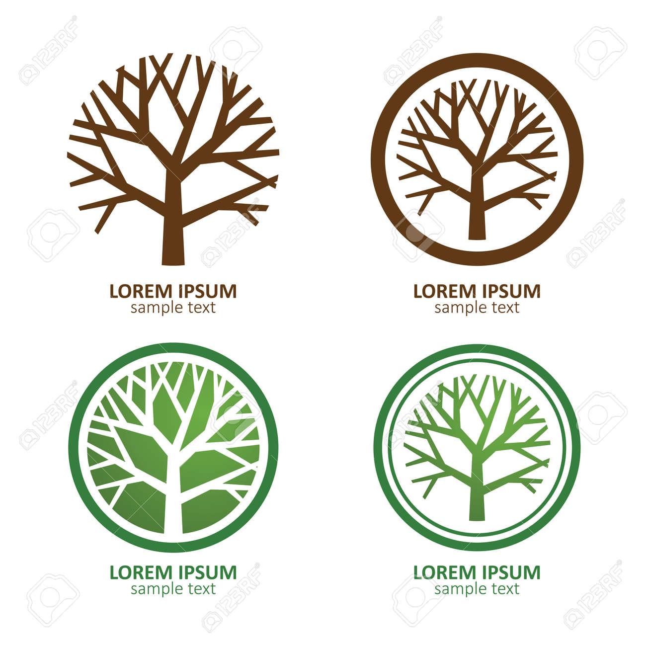 Green Circle Tree vector logo design. eco concept.Vector Illustration. Stock Vector - 40396947