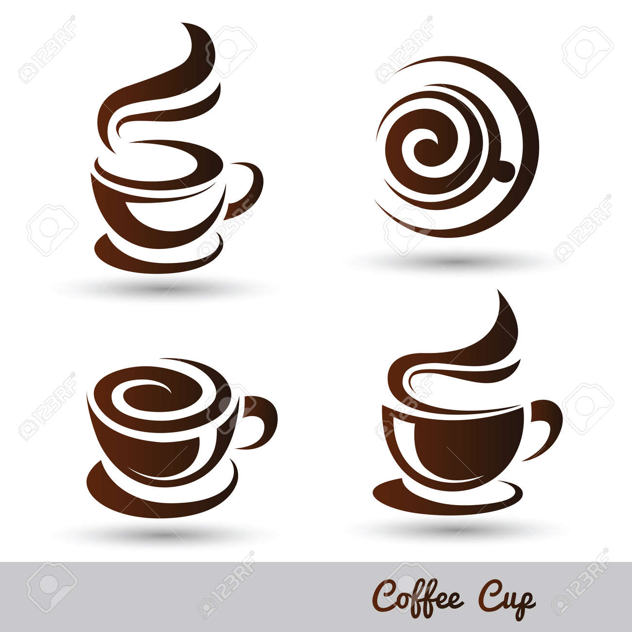 coffee cup set vector,illustration Stock Vector - 47914118