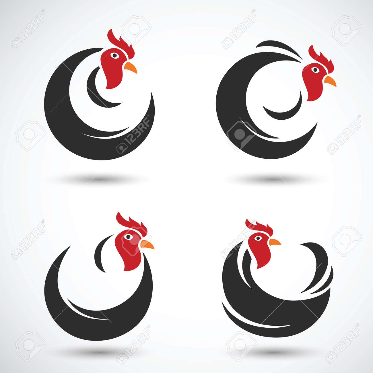 chicken and cock hand drawn sketch on white background , vector illustration Stock Vector - 47914227