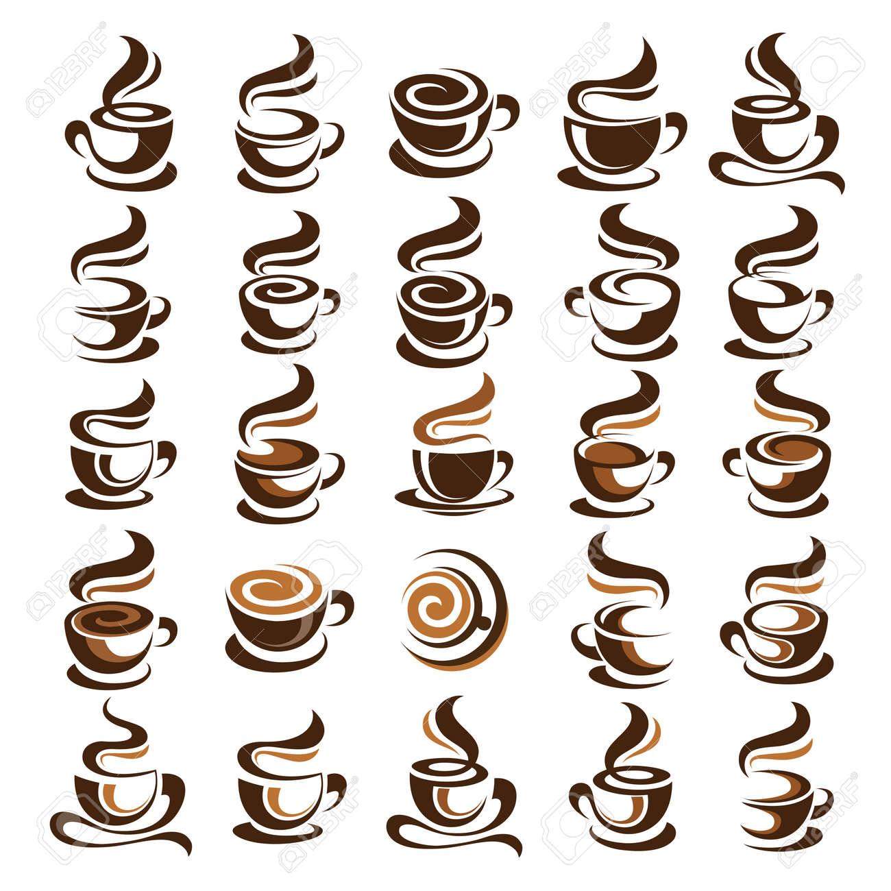 Coffee cup design icon set , vector illustration - 53440996