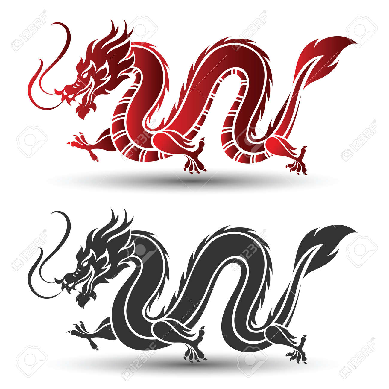 illustration of traditional chinese dragon vector illustration rh 123rf com chinese dragon victory dance in hypixel bw chinese dragon vector free download