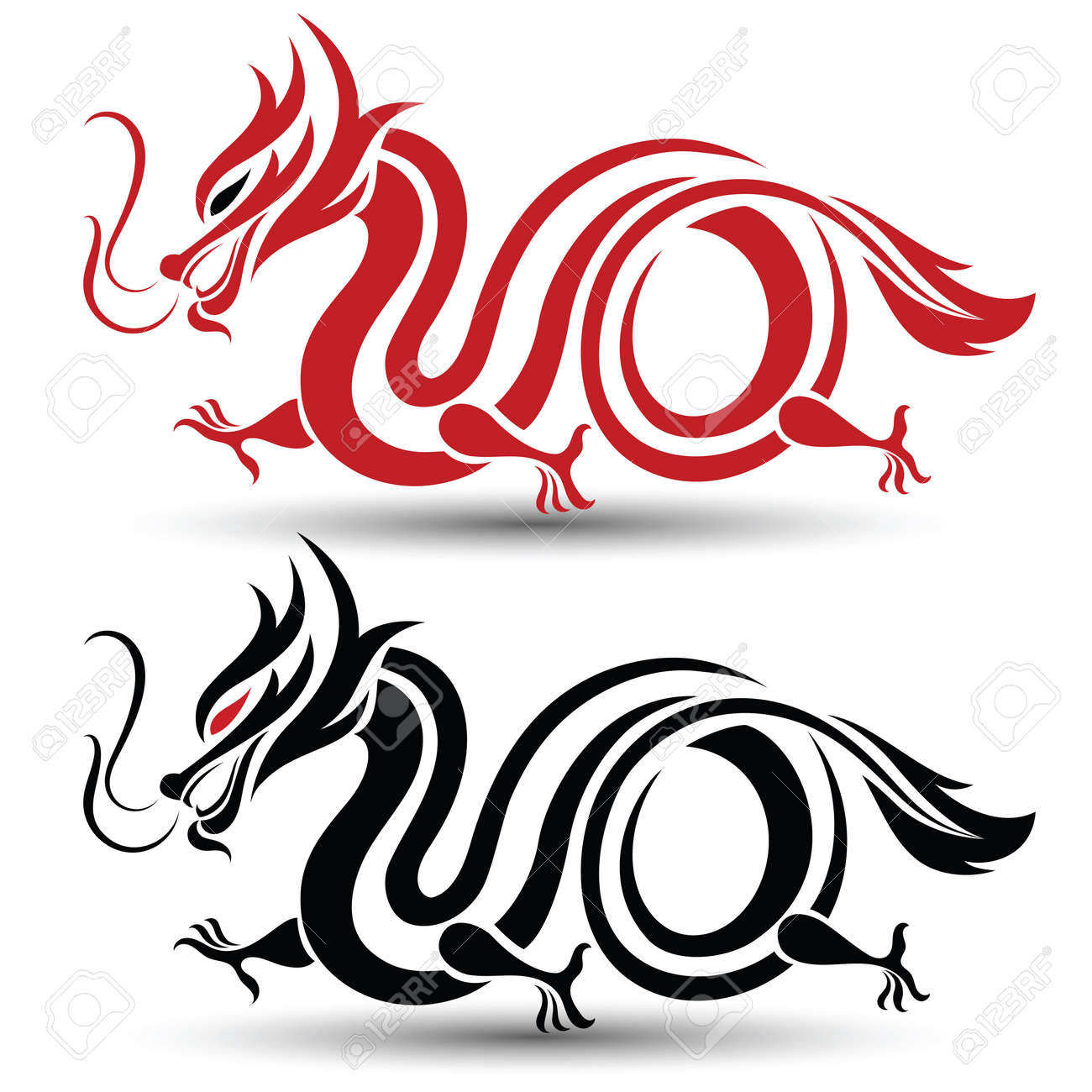 illustration of traditional chinese dragon vector illustration rh 123rf com chinese dragon victory dance in hypixel bw chinese dragon vector art