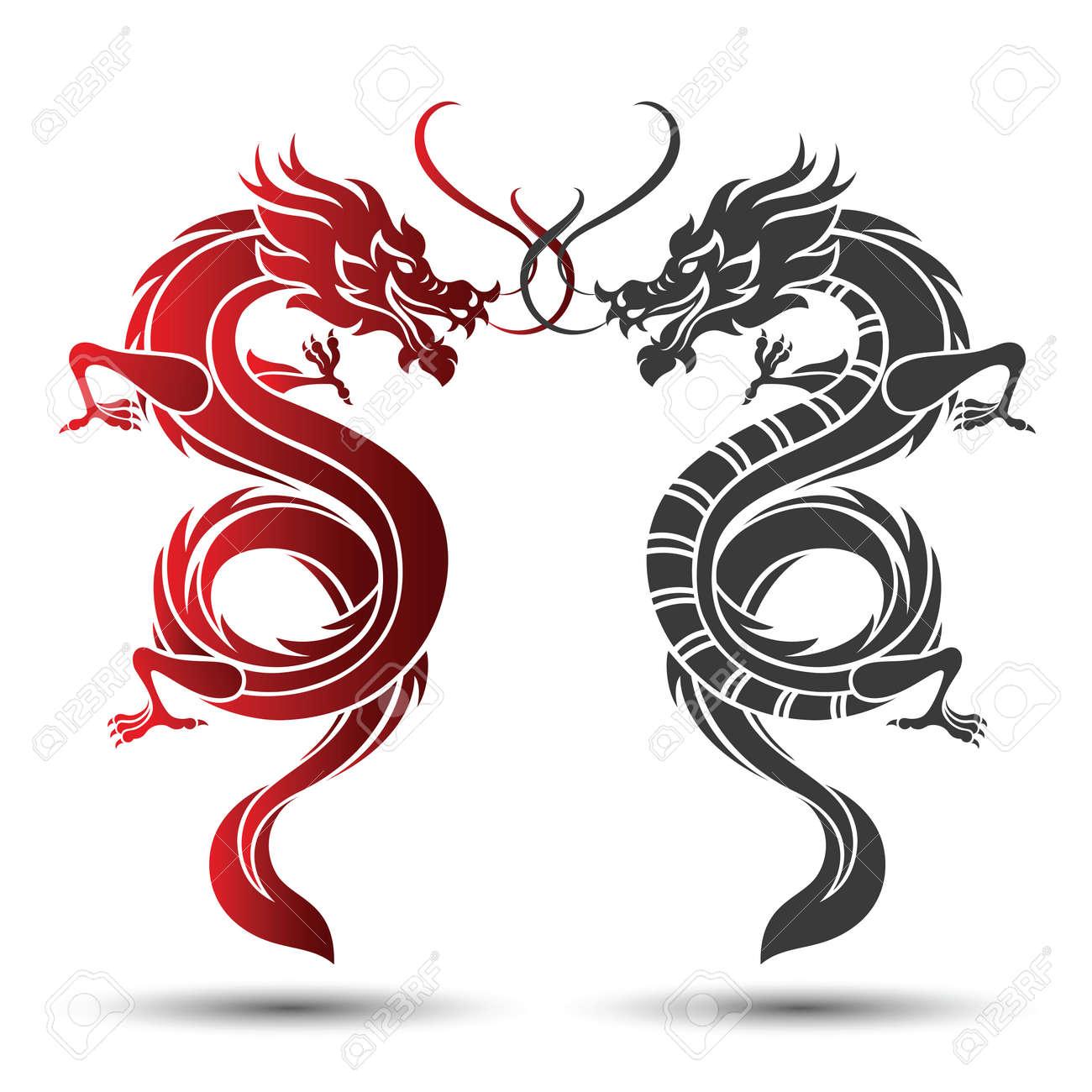 Illustration of Traditional chinese Dragon ,vector illustration - 57487154