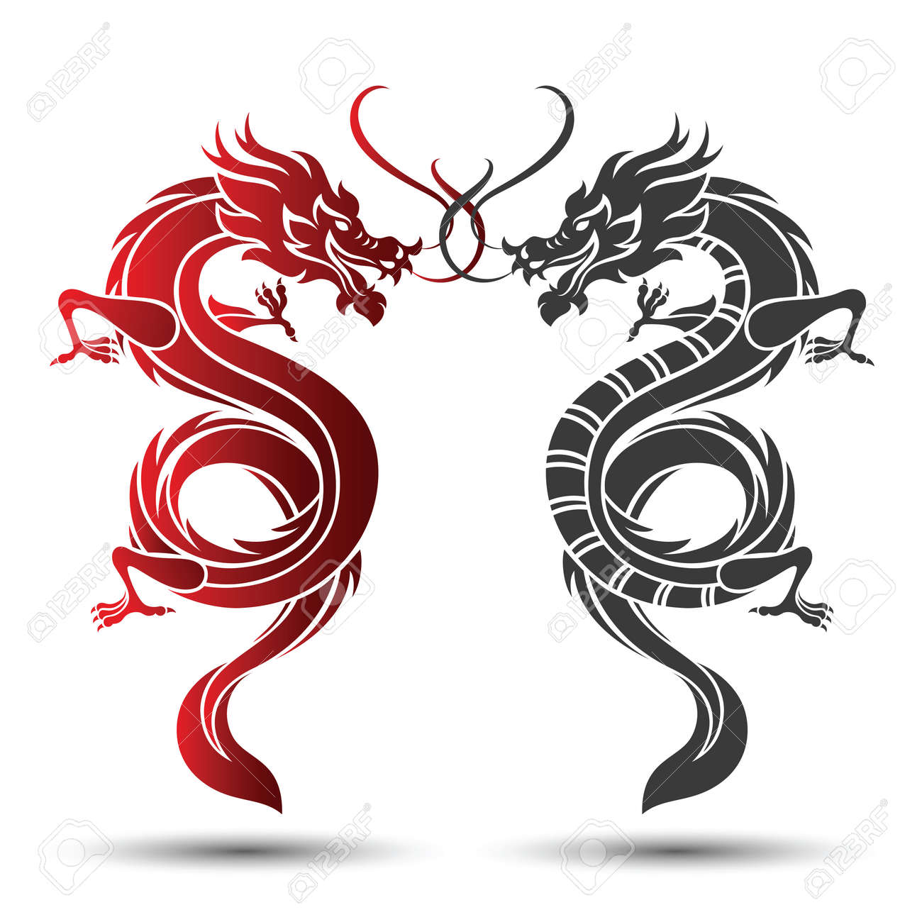 illustration of traditional chinese dragon vector illustration rh 123rf com chinese dragon vector free chinese dragon vector free
