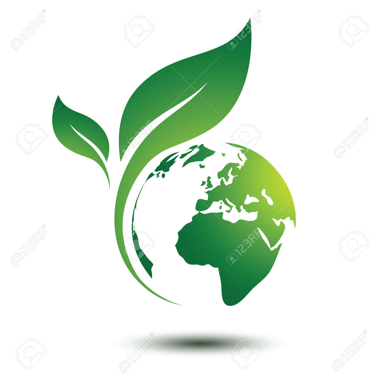 Green earth concept with leaves,vector illustration Stock Vector - 60133680