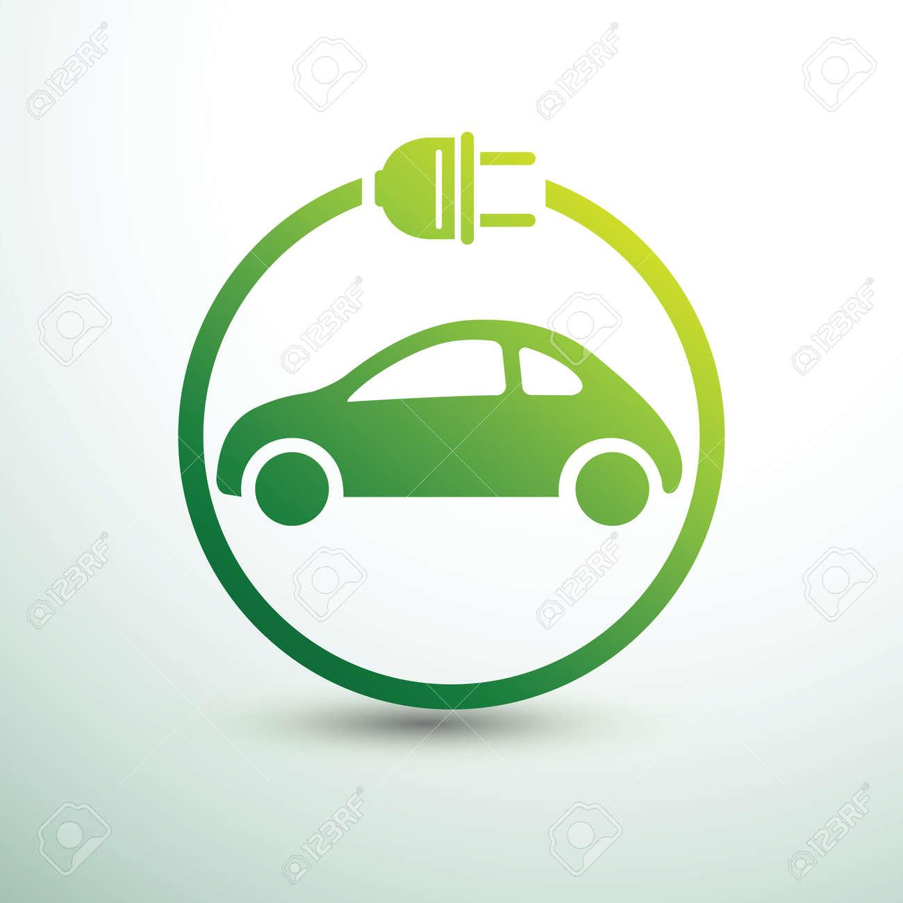 Electric car concept green drive symbol,vector illustration - 80871401