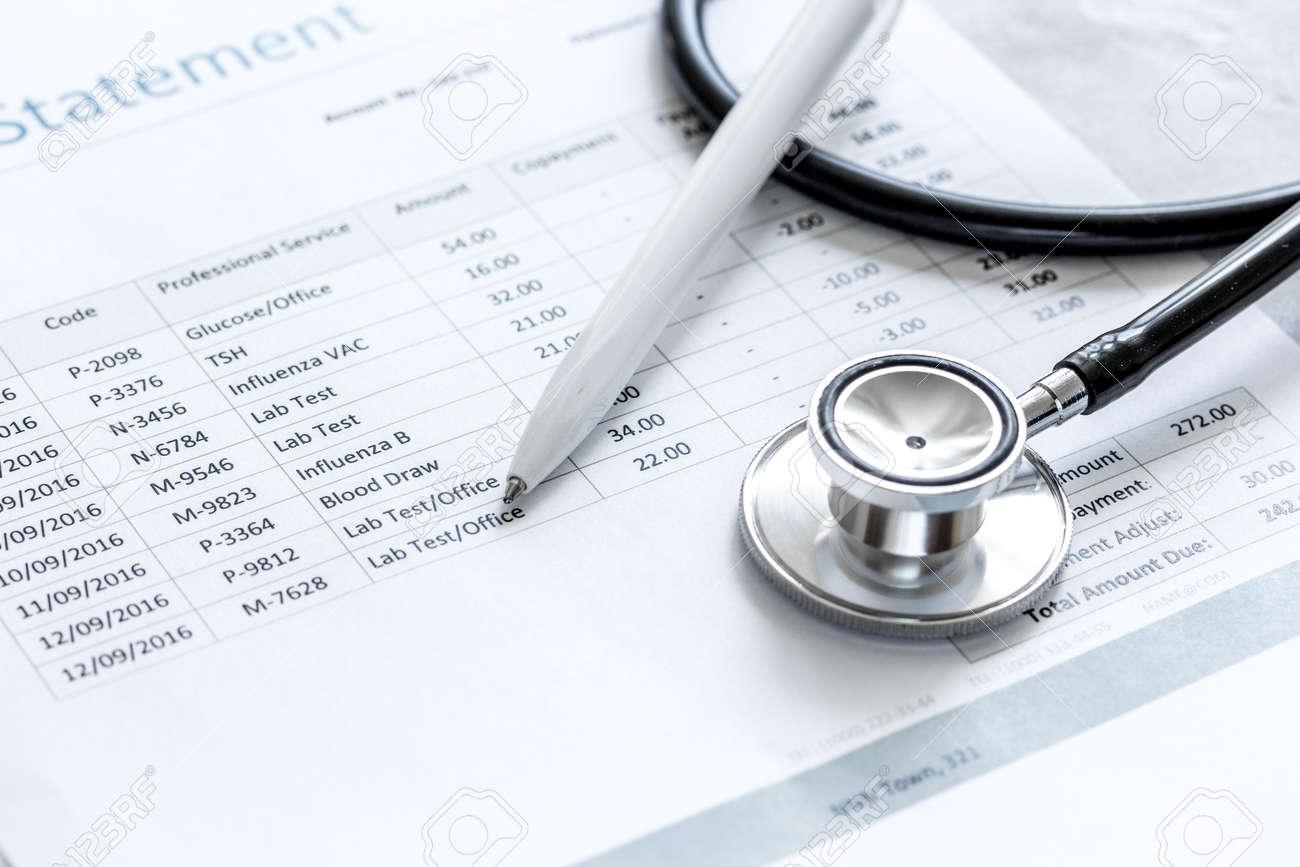 Déclaration de facturation pour service médical en cabinet médical