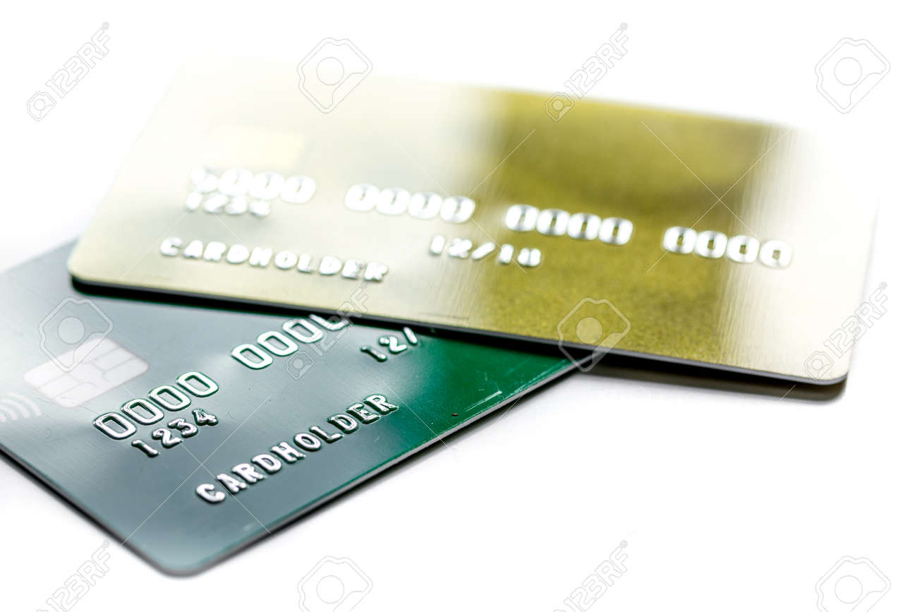 Work place with business credit cards for payment on white desk stock photo work place with business credit cards for payment on white desk background close up colourmoves
