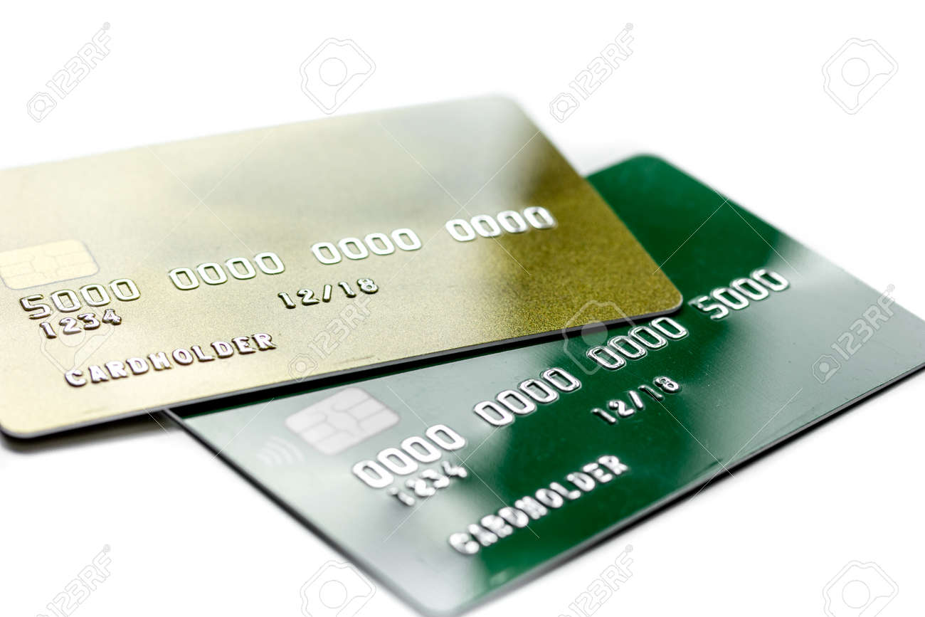 Work Place With Business Credit Cards For Payment On White Office ...