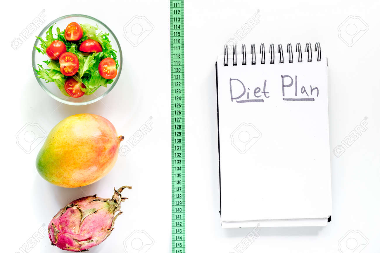 Leckeres Essen Zum Abnehmen Notebook Fur Diat Plan Salat Fruchte