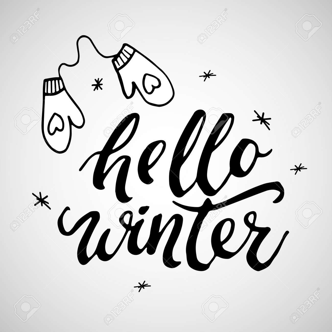 Hello winter handlettering inscription winter logos and emblems hello winter handlettering inscription winter logos and emblems for invitation greeting card t m4hsunfo