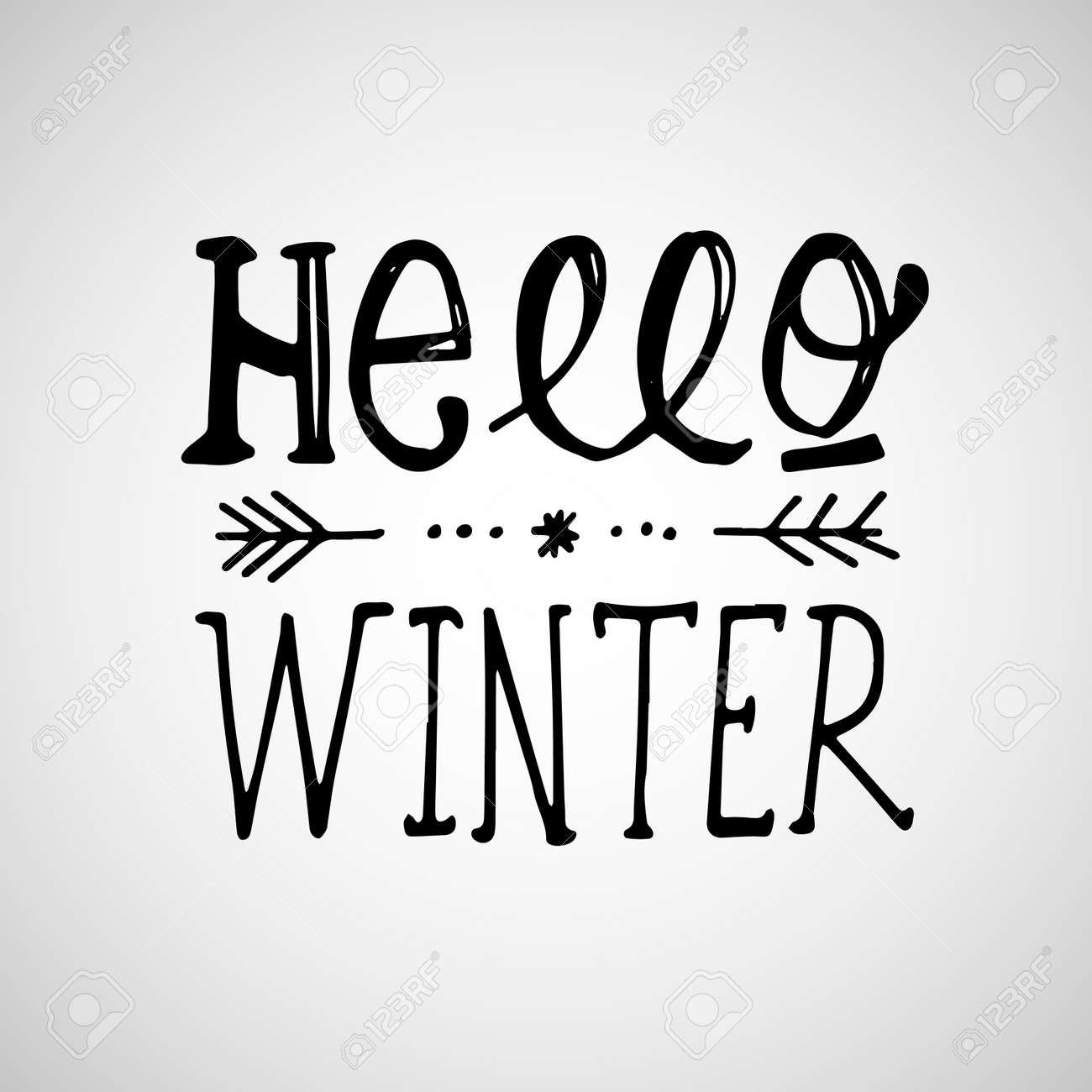 Hello winter handlettering inscription winter logos and emblems hello winter handlettering inscription winter logos and emblems for invitation greeting card t m4hsunfo