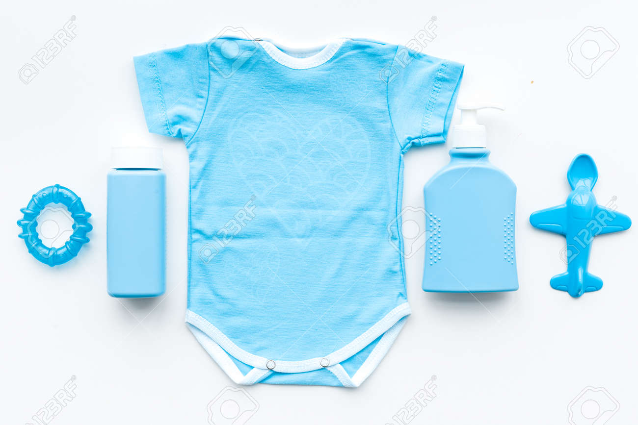 857991d749de Blue Baby Clothes For Little Boy. Bodysuit