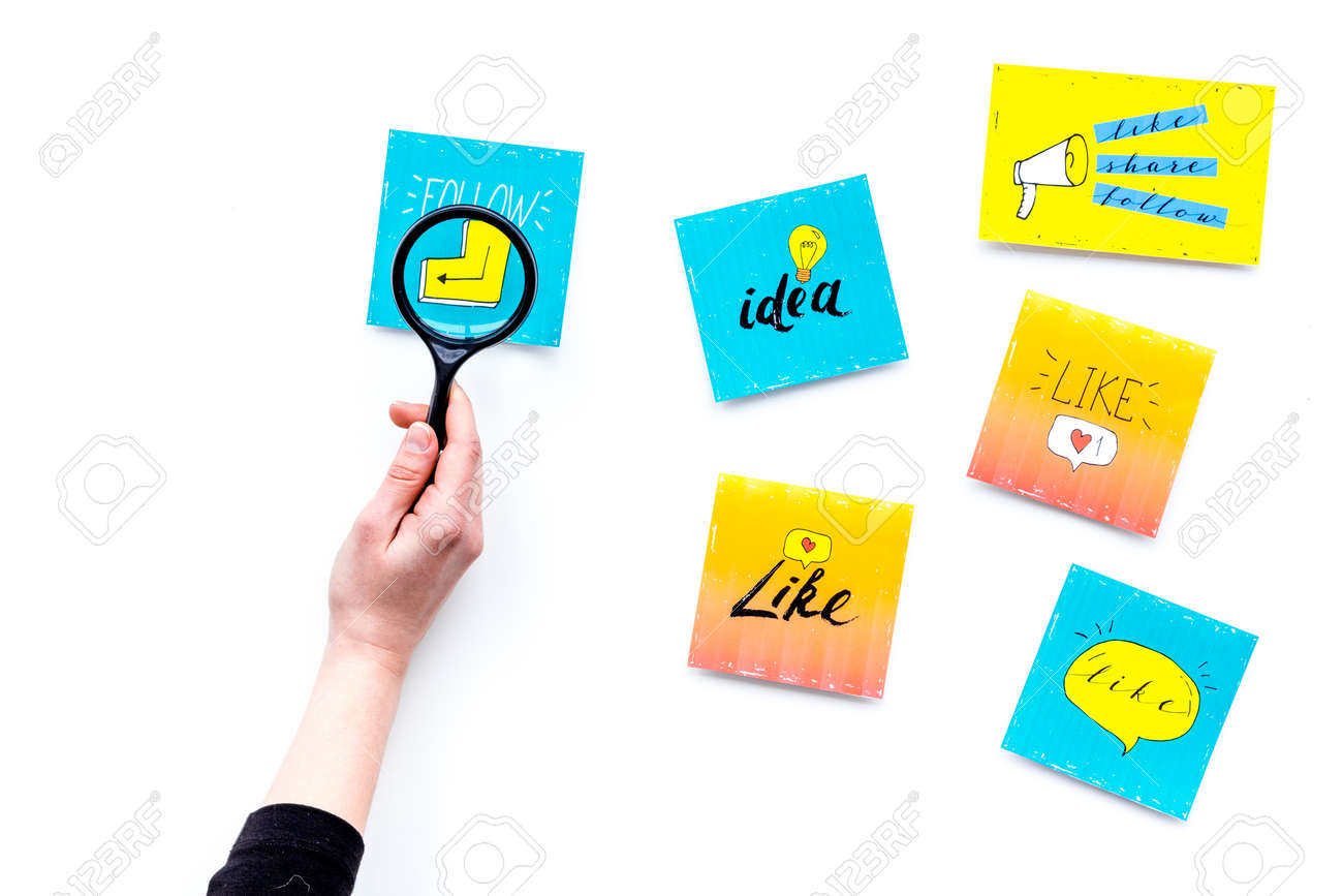 Digital Marketing Work Desk Of Marketing Specialist With Social Stock Photo Picture And Royalty Free Image Image 95071992