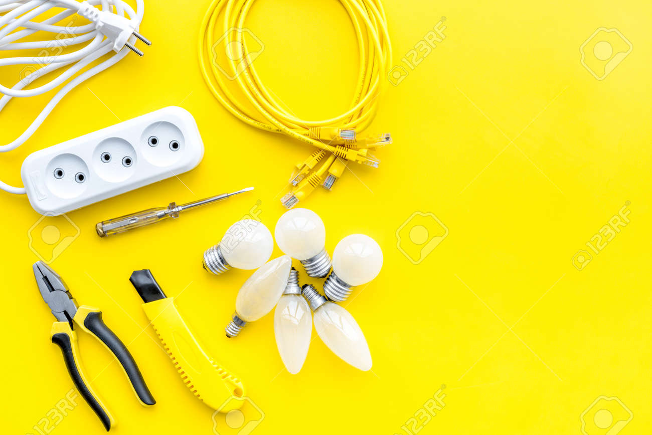 Electrical Accessories At Home Bulbs Socket Outlet Cabel On Stock Photo Picture And Royalty Free Image Image 99080440