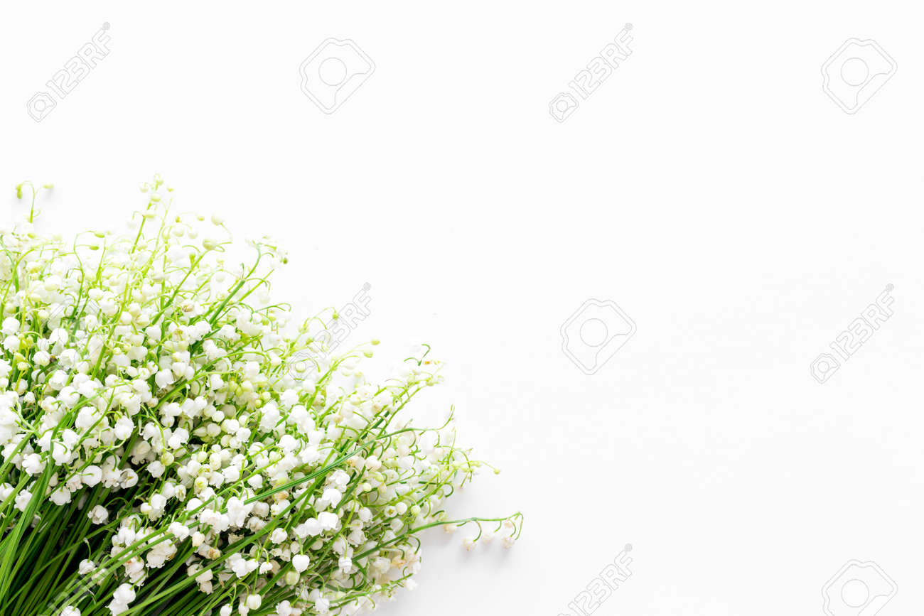 Small and fragrant spring flowers bouquet of lily of the valley small and fragrant spring flowers bouquet of lily of the valley flowers on white background izmirmasajfo