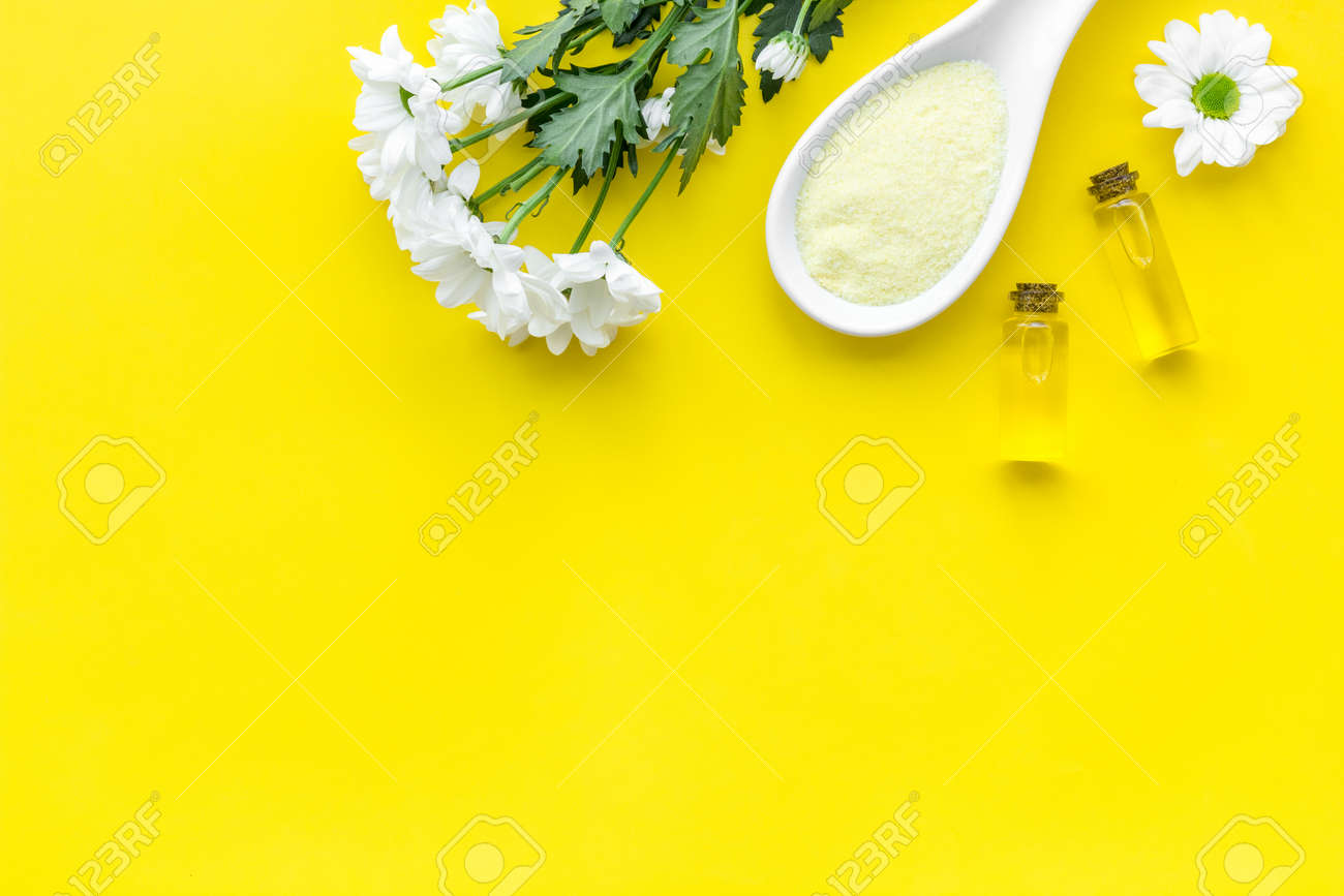 Natural Organic Spa Cosmetics For Skin Care With Chamomile Spa Stock Photo Picture And Royalty Free Image Image 102992870