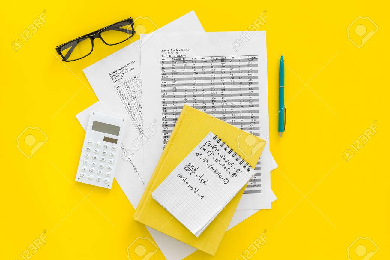 math homework math textbook or tutorial near sheet with numbers