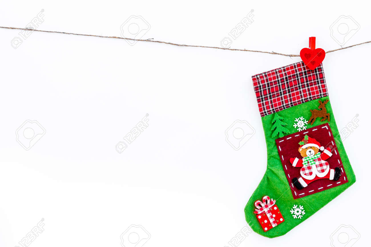 Decorative Christmas Socks Empty Socks For Gift Hanging Off