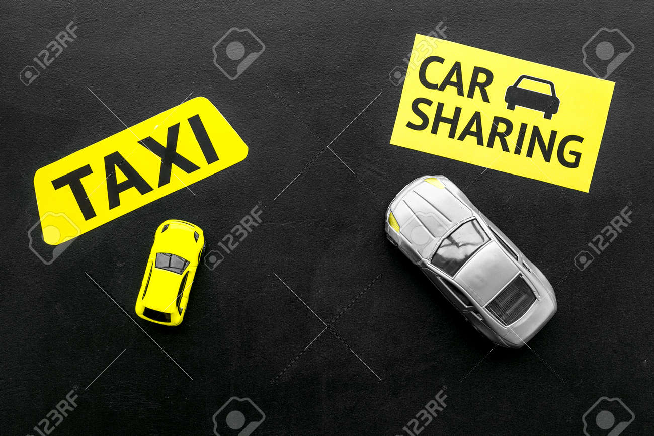 Car Sharing Vs Taxi Concept Comparing Car Sharing System And Stock Photo Picture And Royalty Free Image Image 118401129