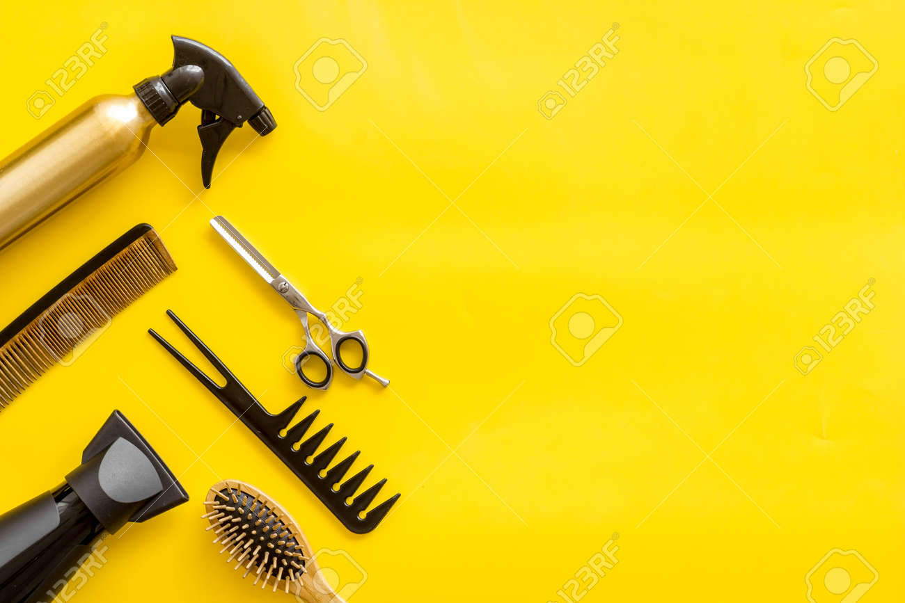 beauty salon. hairdresser equipment for cutting hair and styling.. stock  photo, picture and royalty free image. image 124932309.  123rf