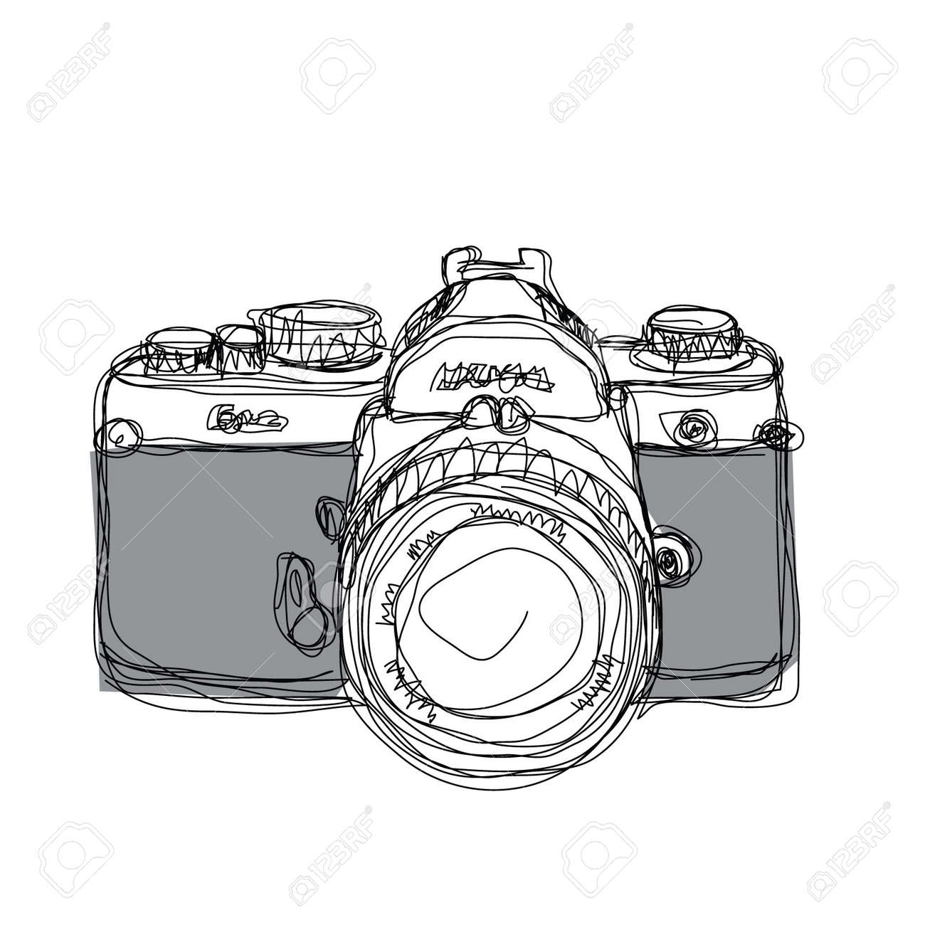 Beliebt Le Dessin De L'appareil Photo Clip Art Libres De Droits , Vecteurs  CW88