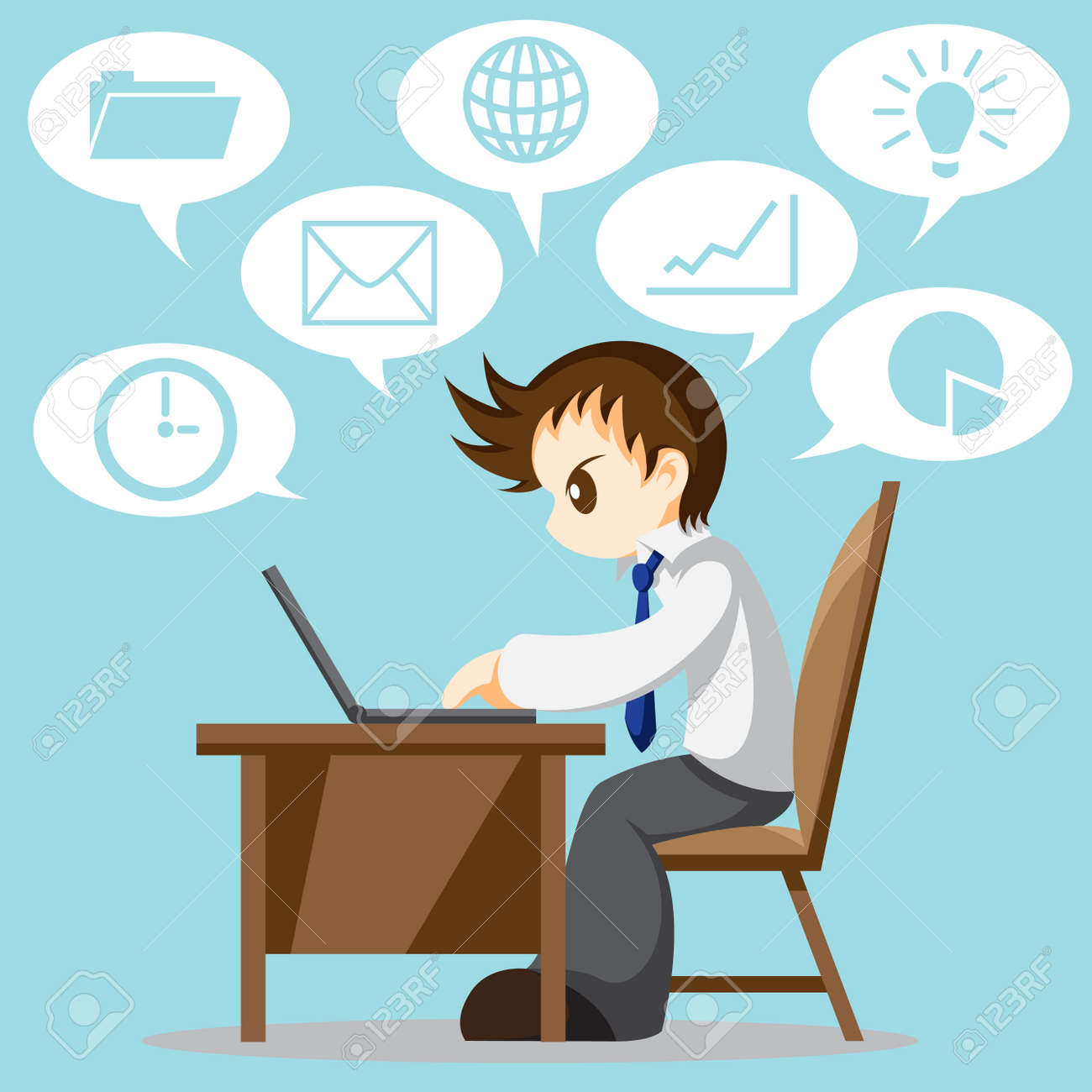 Diário do New Man11 - Página 8 37504000-Cartoon-vector-of-hard-working-office-worker-with-icon-Stock-Photo