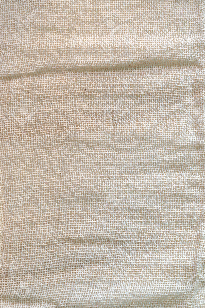 Macro Shot Of Elegant Linen Fabric Texture Background Stock Photo