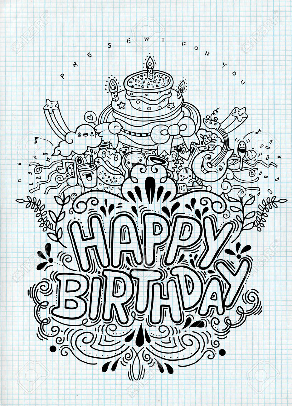 Magnificent Birthday Card Design Vintage Style Template Vector Illustration Personalised Birthday Cards Bromeletsinfo