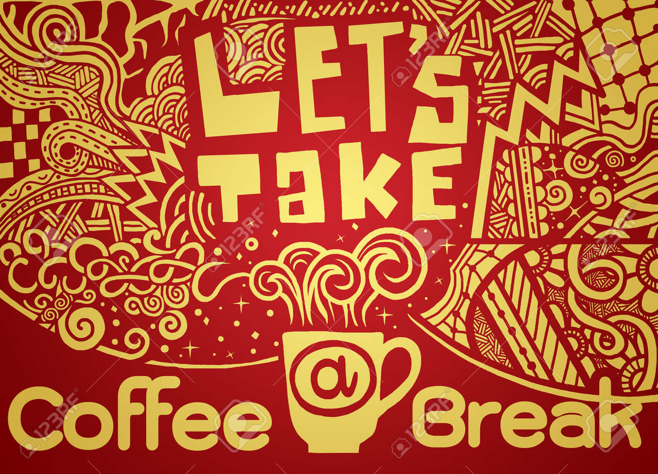 Take Break Coffeebreak : Lets take a coffee break lettering coffee quotes hand drawn