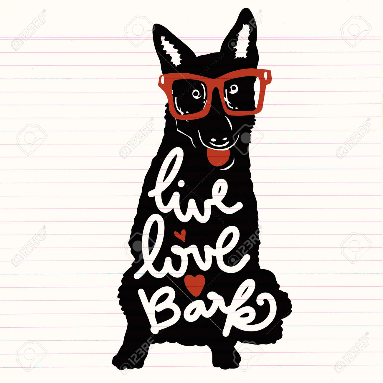 vector illustration vintage typography poster with stylish dog