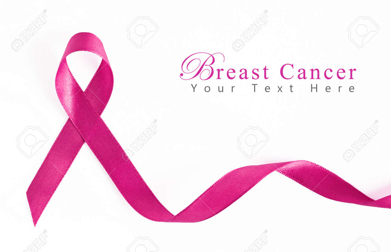 Pink Breast Cancer Ribbon With Copy Space Stock Photo Picture And