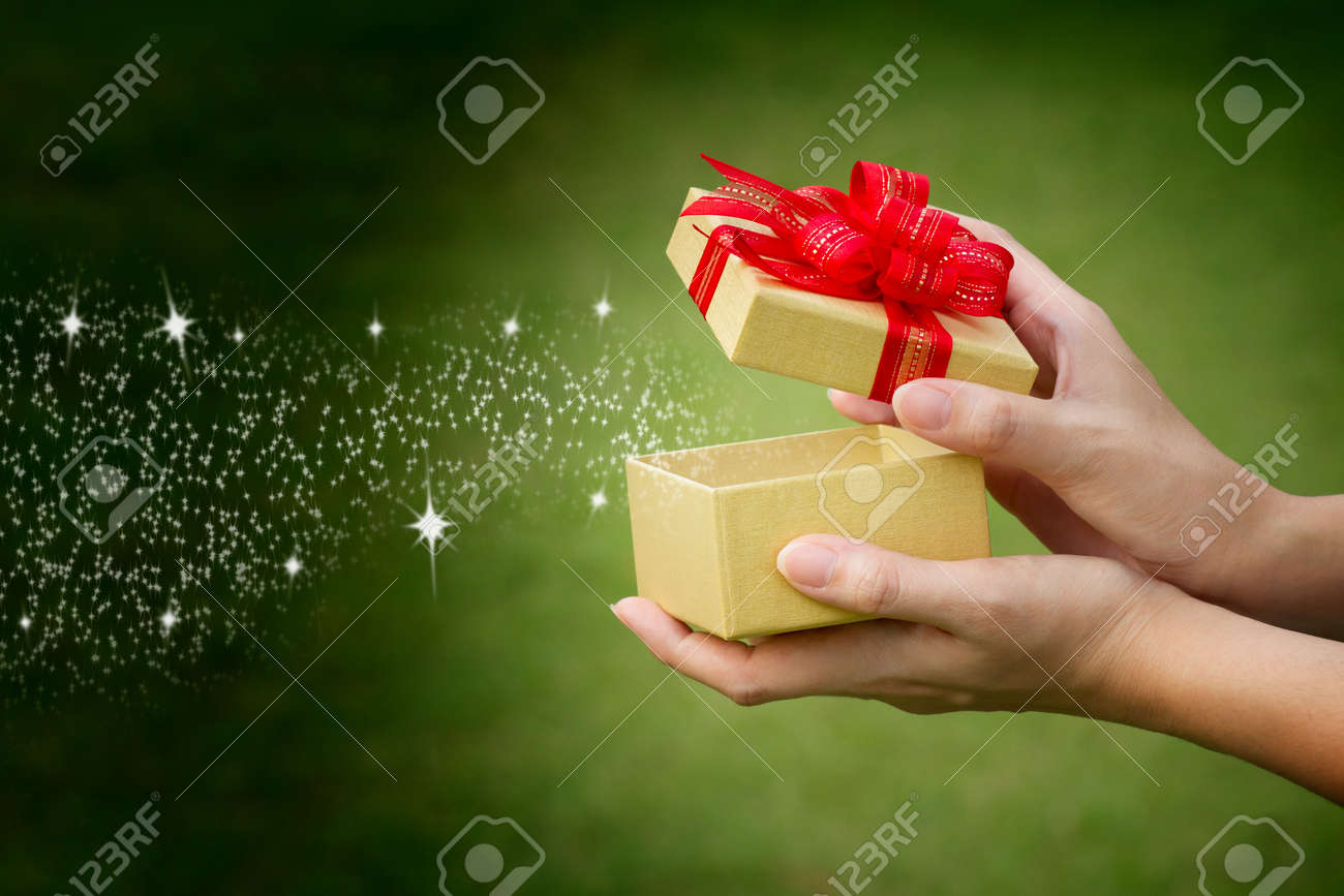 Gift box with text space - 12986397