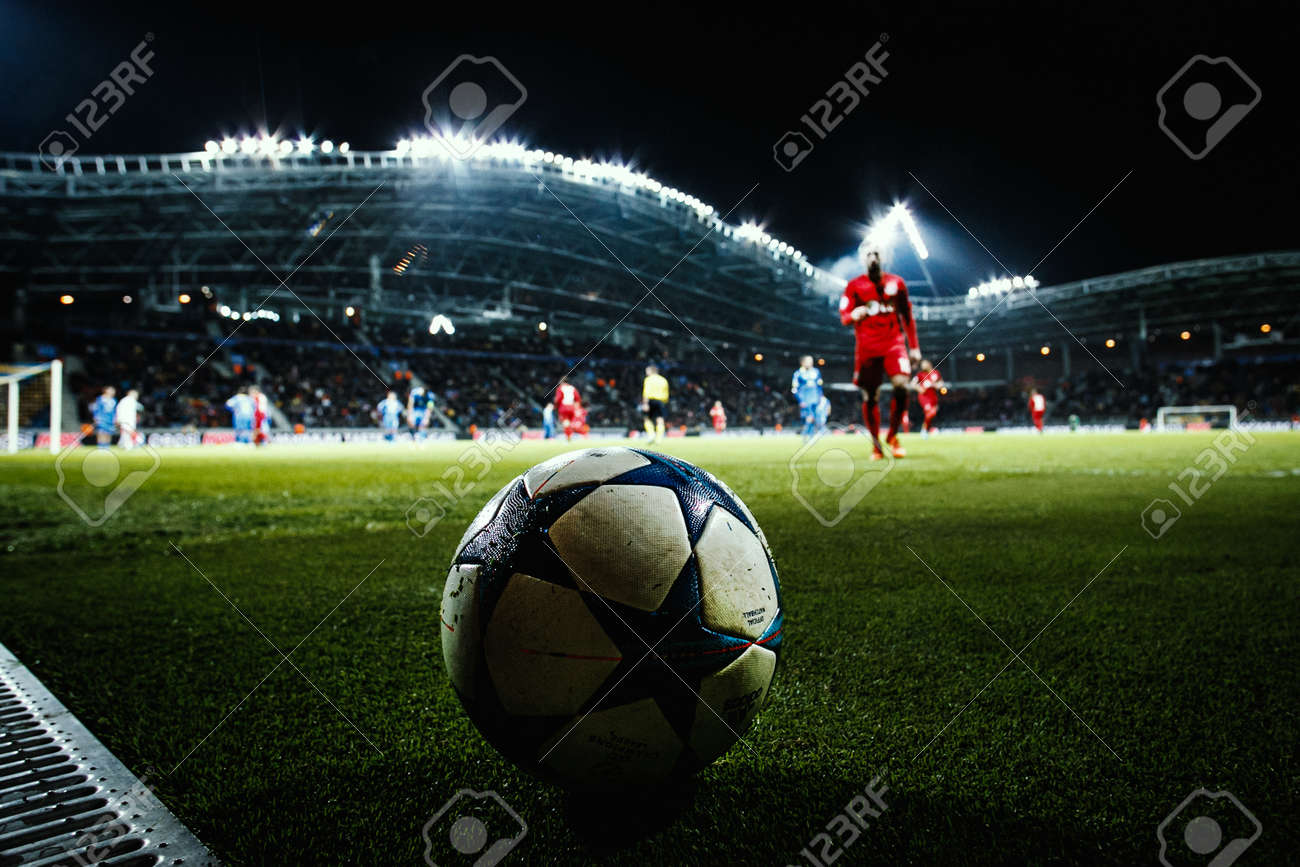 borisov belarus october 2015 borisov arena the uefa champions stock photo picture and royalty free image image 53568391 https www 123rf com photo 53568391 borisov belarus october 2015 borisov arena the uefa champions league match between bate and bayer ba html