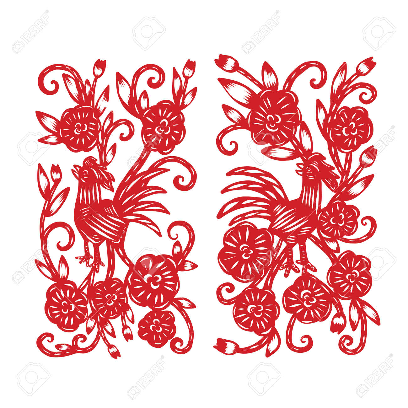 Chinese paper cutting flower paper cutting isolated illustration chinese paper cutting flower paper cutting isolated illustration stock vector 65026948 mightylinksfo