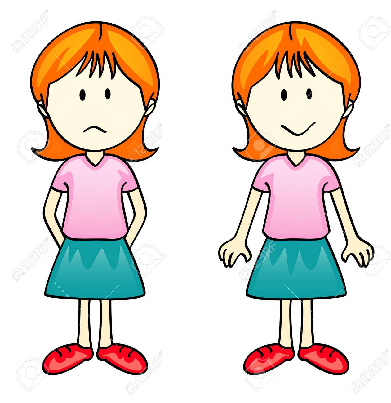 Sad Girl Cliparts, Stock Vector And Royalty Free Sad Girl ...