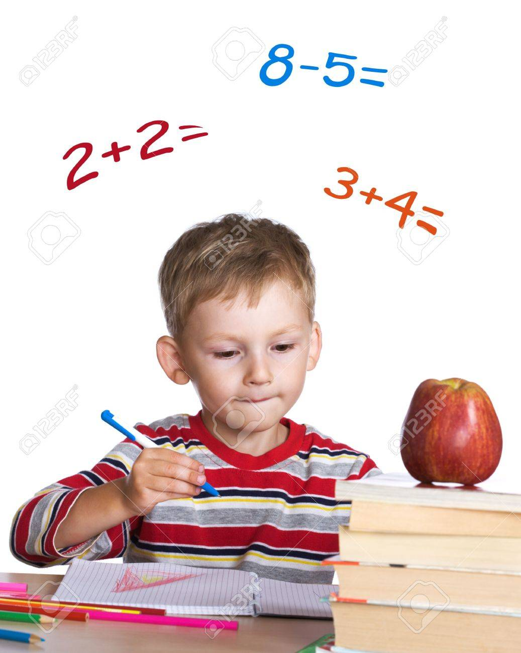 Worksheet Learning Math little student learning math stock photo picture and royalty free 3384437
