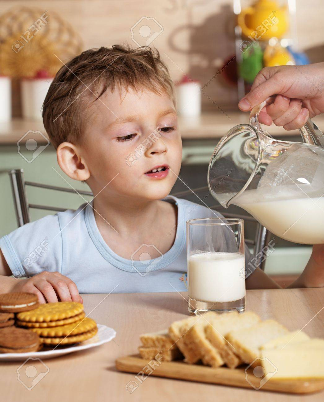 Breakfast of child Stock Photo - 5185968