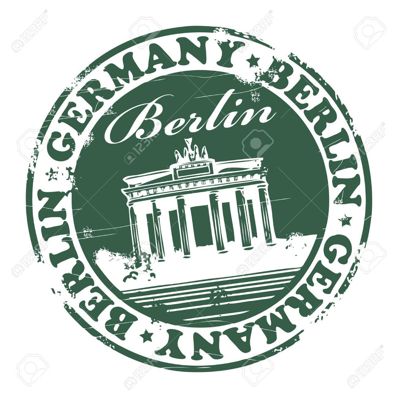 Grunge rubber stamp with the name of the capital of Germany, Berlin - written inside the stamp Stock Vector - 13710339
