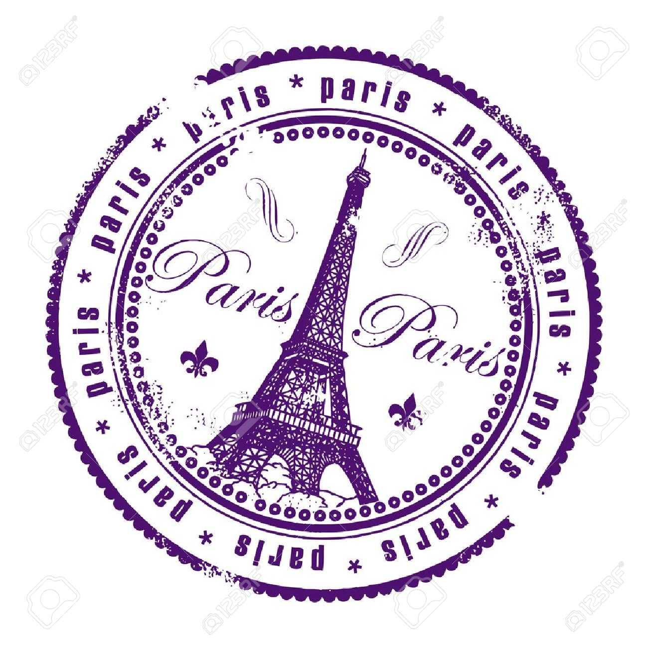 Paris Stamp Royalty Free Cliparts Vectors And Stock Illustration