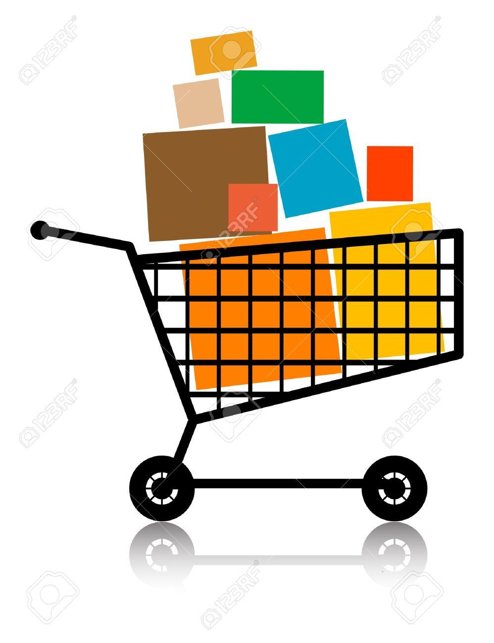 Shopping cart, full - 13756213