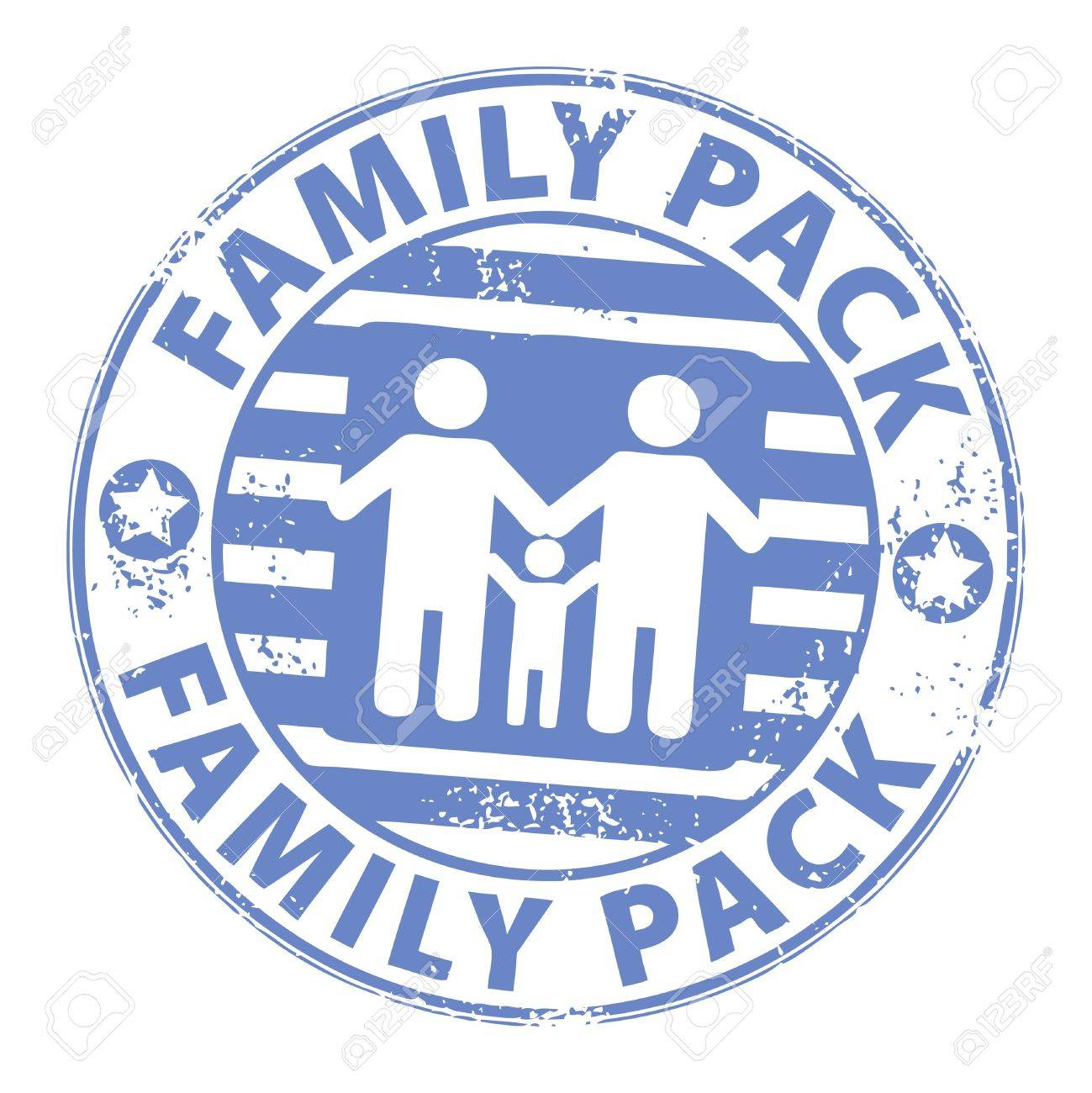 stamp with the text family pack inside royalty free cliparts