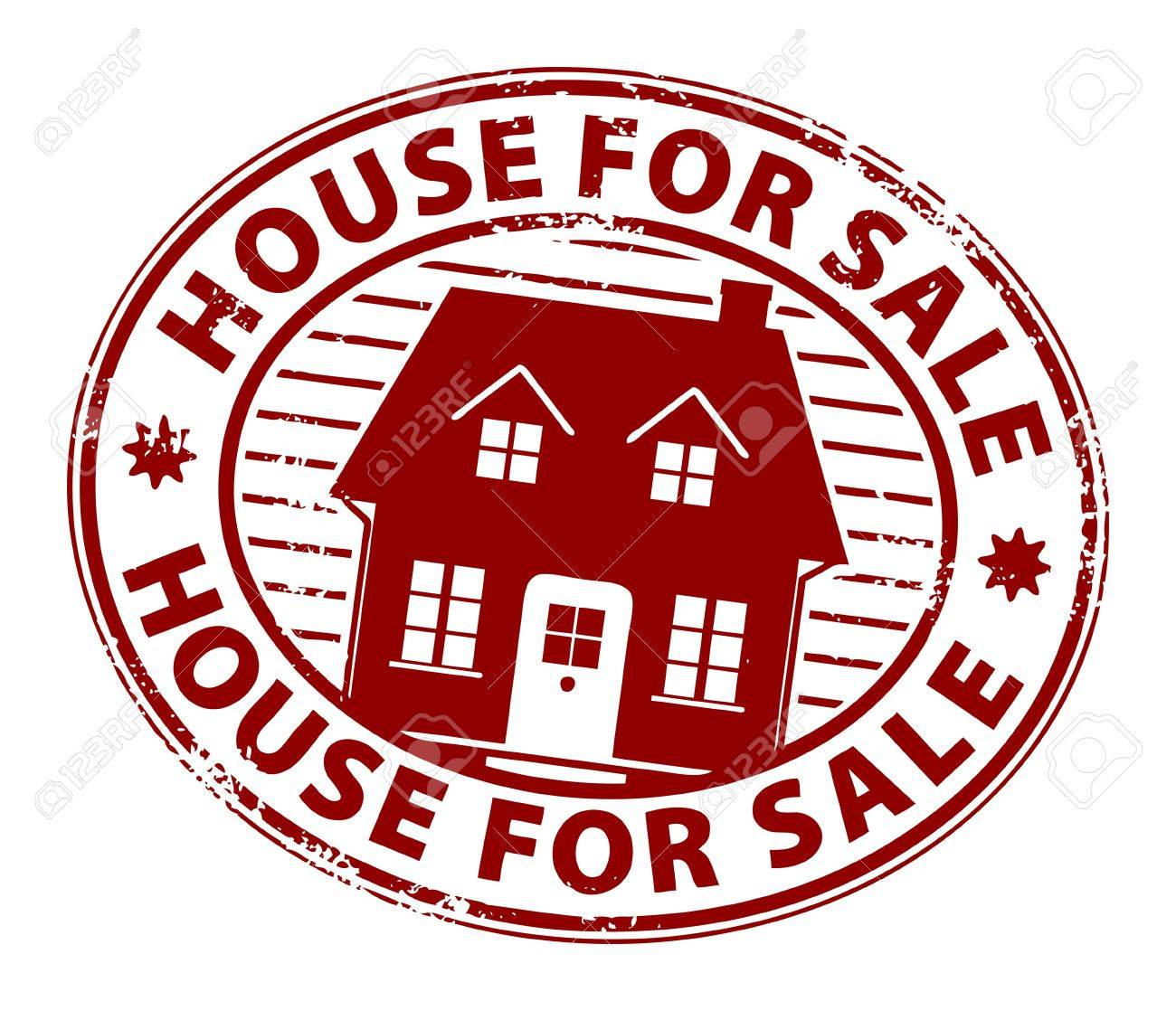 Abstract grunge stamp with the words house for sale written inside the stamp Stock Vector - 13765859