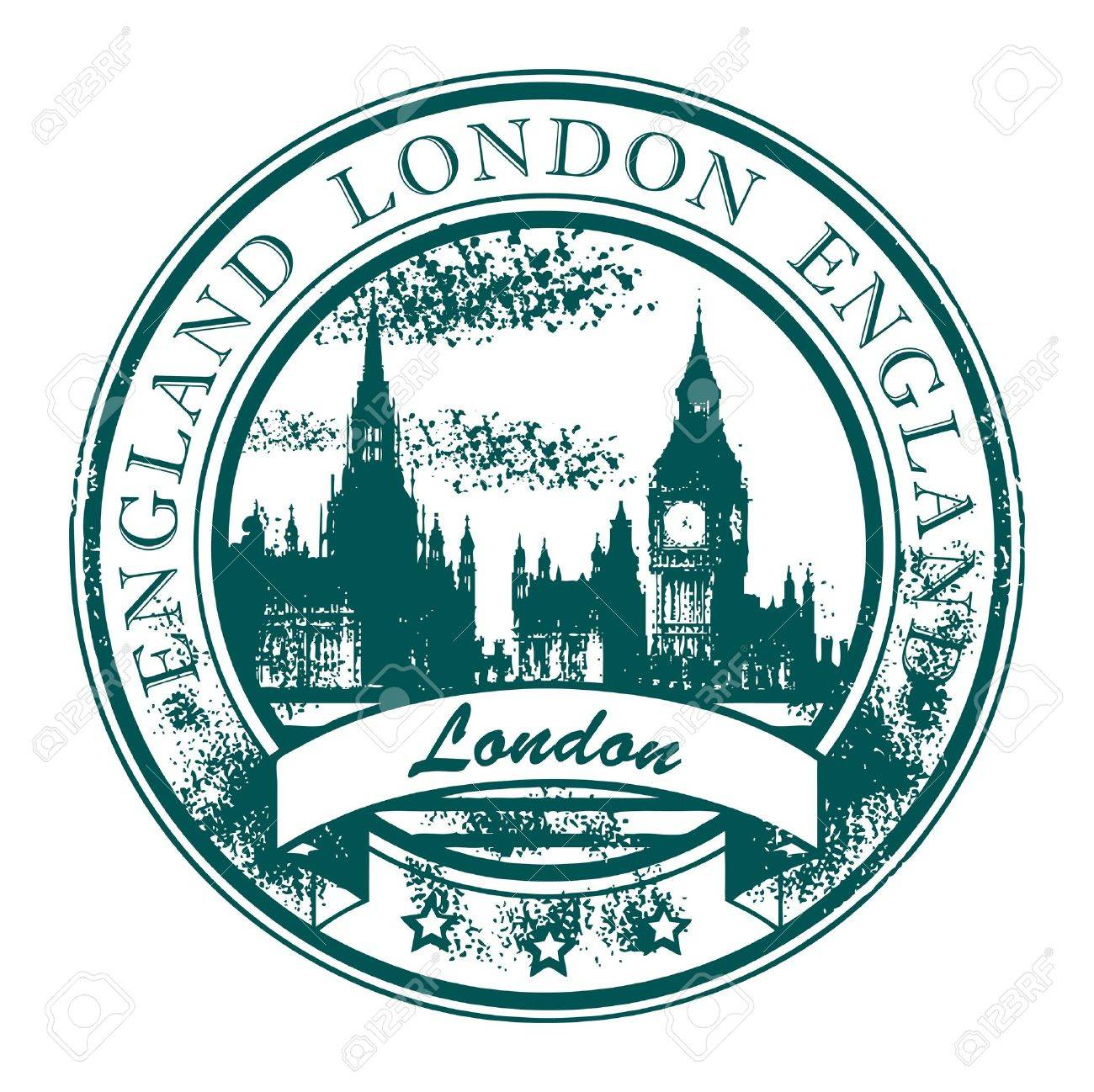 Grunge rubber stamp with London parliament and the word London, England inside Stock Vector - 13872353