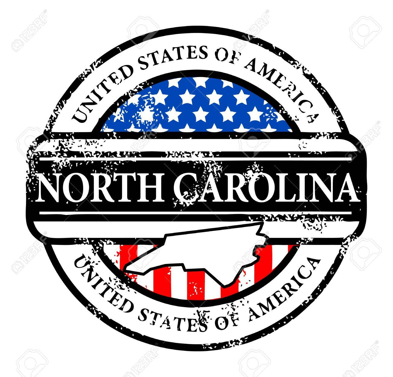 Grunge rubber stamp with name of North Carolina - 13895886
