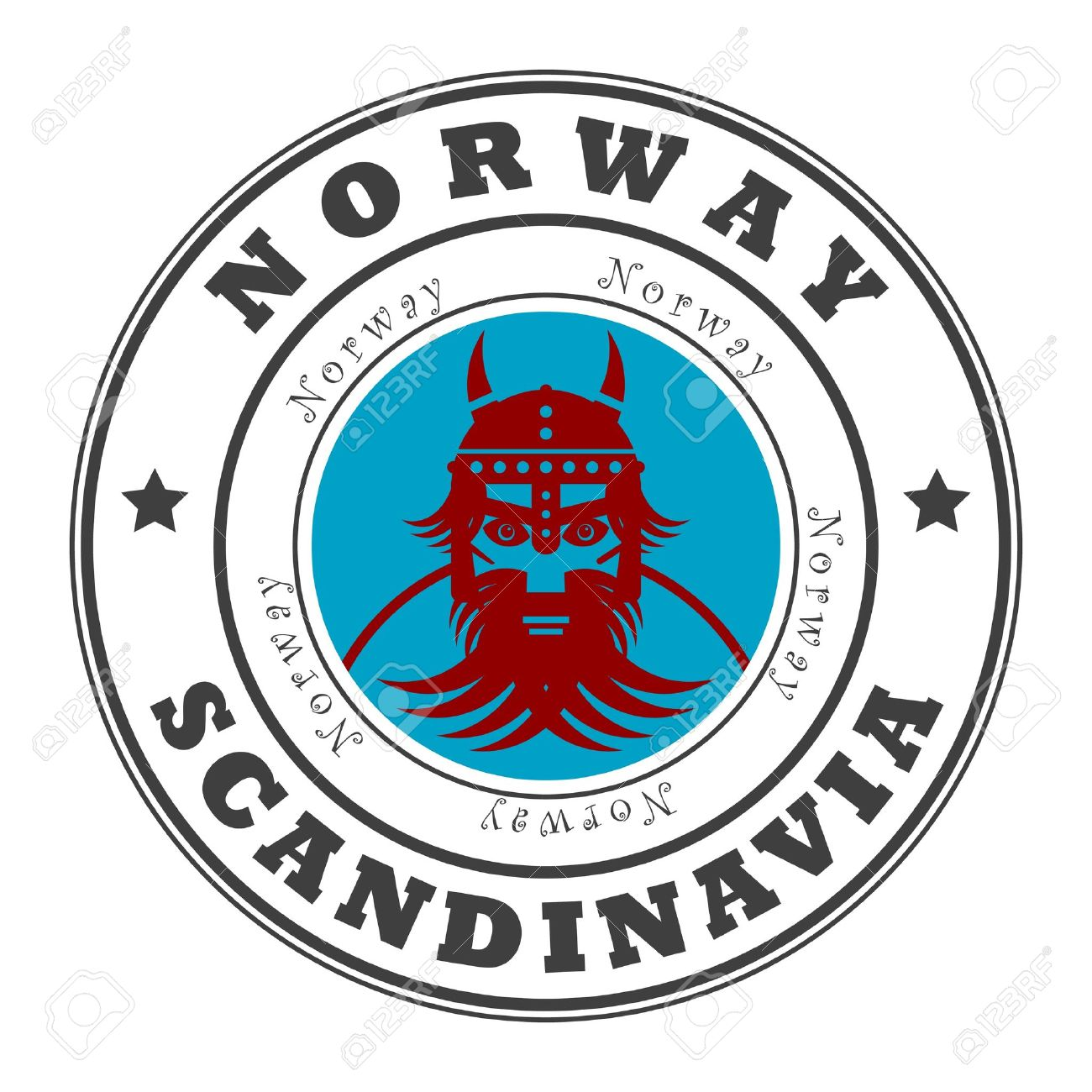 Grunge rubber stamp with word Norway, Scandinavia inside Stock Vector - 13895896