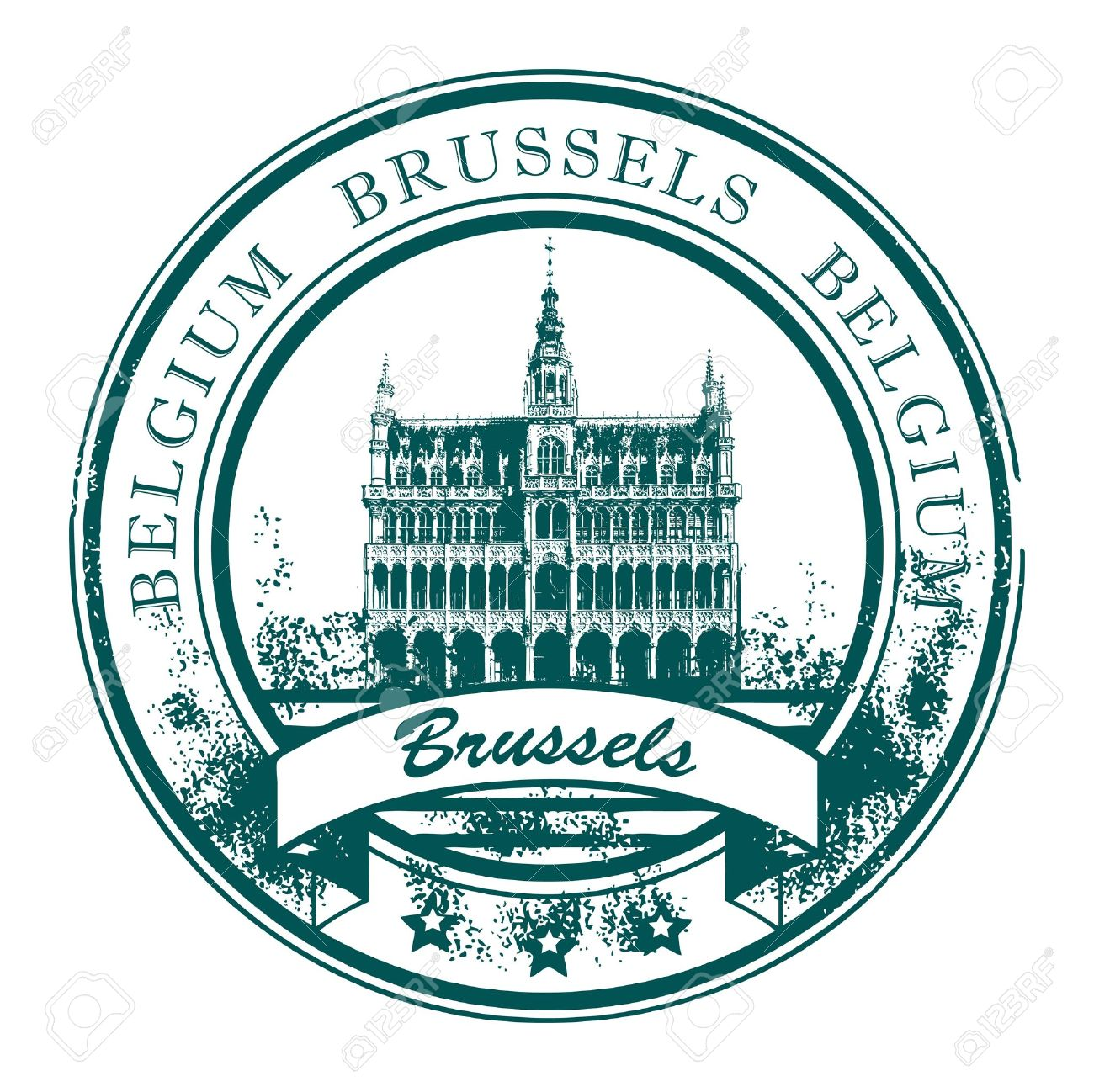 Grunge rubber stamp with the word Brussels, Belgium inside Stock Vector - 13946318